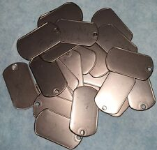25x  GENUINE 8465-00-242-4804 MILITARY SPEC BLANK DOG TAG MATTE STAINLESS STEEL