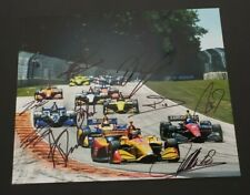 Multi Signed Inycar photo By 9 drivers, Rossi, Sato, Rahal, Bourdais, Wickens