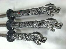 Vintage Set of 3 Decorative Chinese Swords 440 St Steel