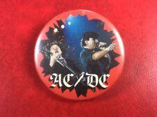Very Rare Vintage Pin Button Badge AC/DC Music Rock. Metal