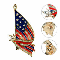 Pretty USA Flag Brooch American Flag Lapel Pin Patriotic Jewelry Gift for Women