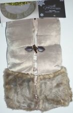 "New Tags Jaclyn Smith 48"" Winter Wonderland Brown Faux Fur Christmas Tree Skirt"