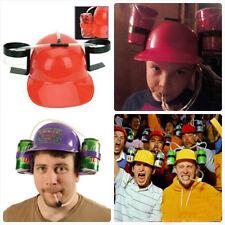 Hot Beverage Helmet Drink Beer Cola Drinking Hat Lounged Straw Cap Party Game