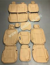 2015 20 Ford F 150 Xlt Supercrew Medium Camel Beige Leather Seat Covers Upgrade Fits Ford F 150