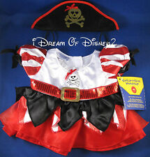 BUILD-A-BEAR FANCY PIRATE PRINCESS DRESS & HAT TEDDY CLOTHES COSTUME NEW