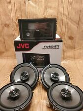 JVC 2-Din  Bluetooth Car Stereo +300 Wt Pioneer TS-G650 6.5in Speakers Audio Kit