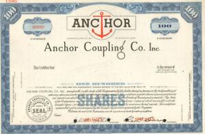 Anchor Coupling Co > ABN Specimen stock certificate