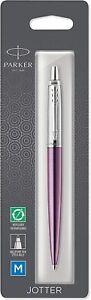 Parker Jotter Victoria Violet w/ Stainless Steel Ballpoint Pen, Blister pack