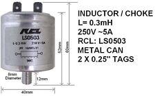 INDUTTORE / UGELLO 0,3 MH, 250V, 5A, RCL: ls0503 (Pacco da 2)