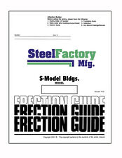 Steel Building Replacement Manuals Construction Guide and Instructions
