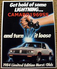 Hurst Lightining Rod Rods Shifter 442 Olds Oldsmobile Cutlass Ad