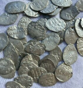 1 BID = 10 RUSSIAN MEDIEVAL SILVER COINS / MOSTLY IVAN IV THE TERRIBLE / 16th C.