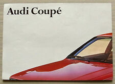 AUDI COUPE Car Sales Brochure Poster Aug 1980 #099/119.009.29