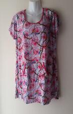 Lavelle Bigshirt Nachthemd Hauskleid Tunika Damen Oberteil Longshirt Gr. 44/ 46