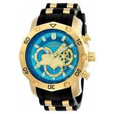Invicta 23426 Men's Pro Diver Chronograph Blue & Gold Dial Steel & Silicon Watch