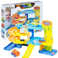 Large Childrens Kids Pretend Play Garage Toy Set 3 Cars Parking Driving Activity