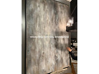 "QUAKE 72"" HAND PAINTED CANVAS URBAN ABSTRACT DECO TEXTURED PAINTING WALL ART"