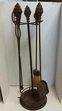 Fireplace Tool Set with Stand decorative handles