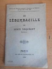 livre médecine traitement de la calvitie maladie du cuir chevelu 1898 ( ref 7 )