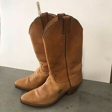Vintage Justin Made in USA Brown Leather Cowboy Western Boots 10B