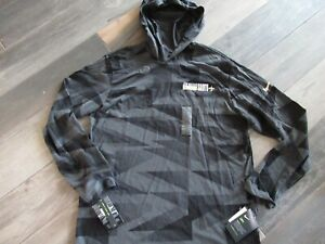 New Orleans Saints Nike Dri Fit Hoodie Pullover Men's Large nwt Free Ship