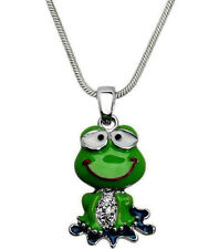 Funny Frog Charm Pendant Necklace with a Gift Box Fast Shipping