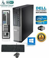 Dell Computer Core i5-2500 SFF DESKTOP 3.30Ghz 8Gb Ram 240gb SSD Windows 10 64