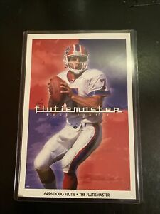 Doug Flutie Buffalo Bills Costacos Mini promo Poster MINT The Flutiemaster PSA