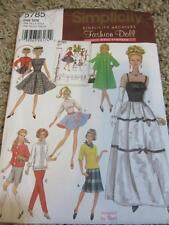 2002 SIMPLICITY ARCHIVES BARBIE DOLL CLOTHES SEWING PATTERN SWING COAT SKIRT +
