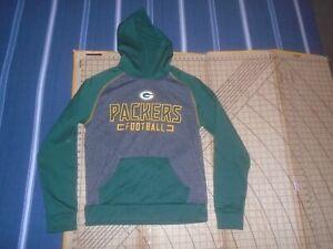 MENS MEDIUM GREEN/GRAY FANATICS/NFL GREEN BAY PACKERS LS HOODY - NWT