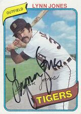 1980 Topps #123 Lynn Jones signed autograph Detroit Tigers