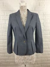 Banana Republic Women's Blue Cotton Stretch Jacket Blazer Size 12 P