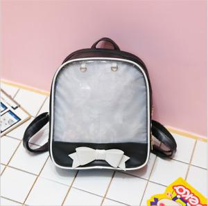6 Colors CLEAR ita bag Transparent itabag Pin Display Backpack school bags New