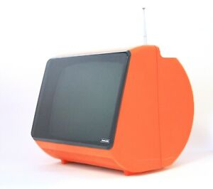 """FROM EARLY 70s PHILCO ALPHA 12"""" RARE VINTAGE TELEVISION  MADE IN ITALY SPACE AGE"""