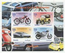 Automobili giapponesi e motocicli HONDA DATSUN SOMALIA 1999 Gomma integra, non linguellato FRANCOBOLLO SHEETLET