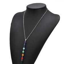 Chakra Necklace Gemstone Crystal Reiki Healing Jewellry Natural Stone Men Women