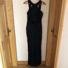 Karen Millen Floor Length Black Dress with cowl back (Size 12)