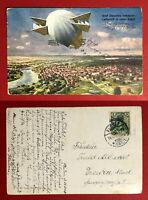 AK PLAUEN im Vogtland 1908 Zeppelin Luftschiff über der Stadt ( 65837