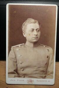 Soldat in Uniform - Portrait / CDV Joseph Fier Trier