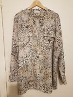NEW ladies Size 3X 24/26 Shirt Top CALVIN KLEIN Plus Size Lovely Blouse Quality