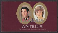 BARBUDA SGSB4 1981 ROYAL WEDDING BOOKLET MNH