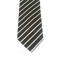 Alexander Logan Neckwear Men's Black /White Striped Tie And Pockets Square...