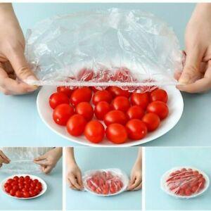 UK! 100 Pcs Dustproof Disposable Bowl Cover Food Fresh Keeping Vacuum Sealed Bag