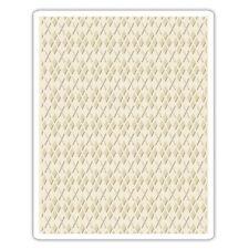 Tim Holtz Texture Fades ~ ARGYLE ~ Embossing Folder ~ 660996
