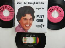 LOT OF 4 'PATSY CLINE' HIT 45's+1P(Copy)[When I Get Through With You] 50's&60's!