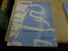 Yamaha 125 YZ YZ125 Used Manual YZ125V SR-331