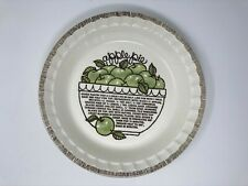 VINTAGE APPLE PIE ROYAL CHINA JEANNETTE DEEP DISH PIE PLATE WITH RECIPE