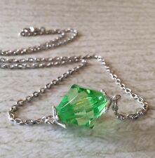 Smallville Lana Lang Lang's Green Kryptonite Inspired Necklace Pendant NEW SIZE!
