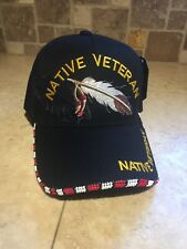 Native American Veteran Beaded baseball hat Native Pride Hat New Beadwork