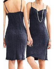 Banana Republic Navy Crinkle Adjustable Strap Silk Summer Pullover Tank Dress